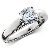 The Cathedral 1.5 Carat Diamond Engagement Ring In Platinum —   This Platinum Diamond Engagement Ring Emulates smooth arches & superb architecture, the cathedral style gives this solitary 1.5 ct. round brilliant diamond an exalted presence.