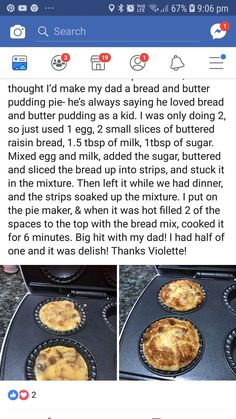Bread and butter pudding Pie Iron Recipes, Mini Pie Recipes, Waffle Maker Recipes, Cooking Recipes, Camping Menu, Camping Foods, Backpacking Meals, Kayak Camping, Ultralight Backpacking