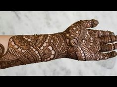 Indian bridal henna designs for hands - Step By Step - Mehndi Designs Latest Bridal Mehndi Designs, Full Hand Mehndi Designs, Mehndi Designs 2018, Modern Mehndi Designs, Mehndi Design Pictures, Mehndi Designs For Beginners, Beautiful Mehndi Design, Dulhan Mehndi Designs, Mehndi Designs For Hands
