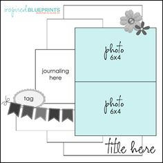 Inspired Blueprints | Sketch 85 #inspiredblueprints #scrapbooking #sketch
