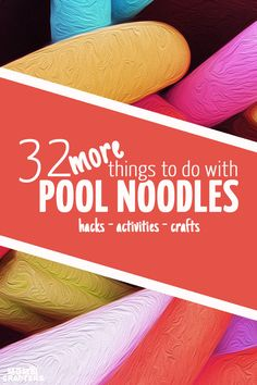 You won't believe it's a pool noodle! Check out how many things you can do with a pool noodle! Pool noodle activities, crafts, and hacks. Noodles Games, Pool Noodles, Projects For Kids, Crafts For Kids, Craft Projects, Pool Noodle Crafts, Dyi Crafts, Creative Crafts, Creative Ideas