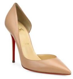 79a6982d3063 iriza half d orsay leather pumps by Christian Louboutin. Timeless half  d Orsay silhouette in sleek leather. Self-covered heel