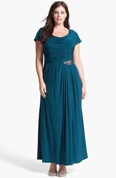 9830cc97d6 Cool Great PATRA SIZE 16W GREEN COWL NECK JEWEL DETAIL JERSEY EVENING GOWN  891 2017