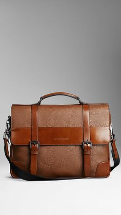 Grainy Leather Briefcase | Burberry