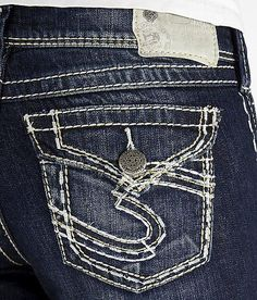 NEW Womens SILVER JEANS Mid Rise Flap Pocket Suki Skinny Stretch ...