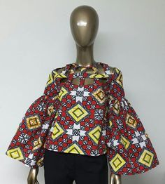African Print Top. Ankara Top. Handmade Clothing. by NanayahStudio