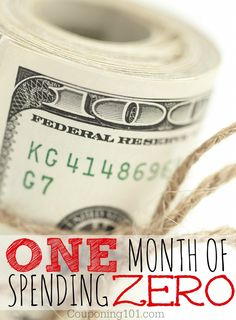 One Month of Spending Zero - How we're getting by without spending money this month. Be inspired.