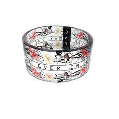 Hunger Games Inspired Resin Bangle bracelet by by BuyMyCrap, $40.00