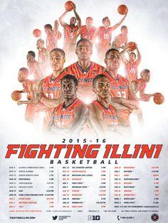 2015-16 Illinois Men's Basketball Poster