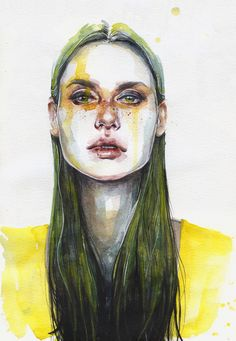 Tumblr #agnescecil #watercolor  Yellow Lemongrass https://www.facebook.com/agnescecile