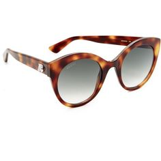 Gucci Cat Eye Tiger Sunglasses ($390) ❤ liked on Polyvore featuring accessories, eyewear, sunglasses, cat eye sunnies, round cateye sunglasses, round cat eye sunglasses, round sunglasses and round frame sunglasses