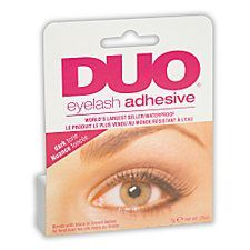 Ardell DUO Dark Eyelash Adhesive is the world's best selling waterproof lash adhesive. Beauty Hacks Eyelashes, Best False Eyelashes, Duo Eyelash Glue, Glamour Hair, Faux Lashes, Ardell Lashes, Eye Liner Tricks, Beauty Routines, Skin Care Tips