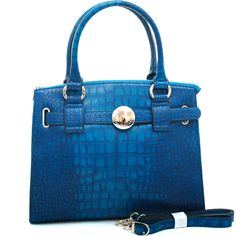 Anais Gvani ® Women's Croco Accented Chic Belted Tote