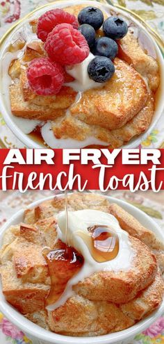 You may never make french toast in a skillet again. This Air Fryer French Toast is a dream breakfast – fast, filling and sinfully delicious. 21 Day Fix Breakfast, Breakfast For Kids, Breakfast Recipes, Breakfast Ideas, Dinner Recipes, Dairy Free Recipes, Baking Recipes, Ninja Recipes, French Toast Caserole