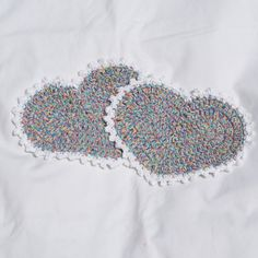 Dish clothes  2 Cotton Heart Shaped or wash by Susansweaters, $3.75