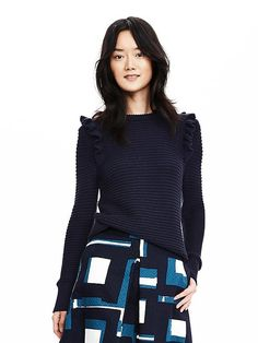 Ruffle Pullover Sweater- really like this sweater to wear with pants or skirt