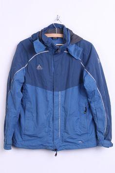 Vaude Womens M Waterproof Jacket Hood Blue Windproof Sport Top - RetrospectClothes