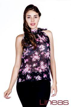 Blusa, Modelo 19026. Precio $120 MXN #Lineas #outfit #moda #tendencias #2014 #ropa #prendas #estilo #primavera #blusa