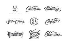 Recent hand lettering logos. #handlettering #lettering #logo #logos #creative #logoinspiration #inspire #logomark #graphicdesign