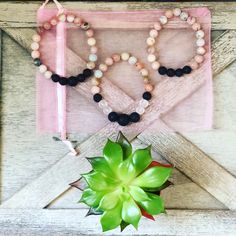 A personal favorite from my Etsy shop https://www.etsy.com/listing/584698139/pink-lace-agate-aromatherapy-bracelet