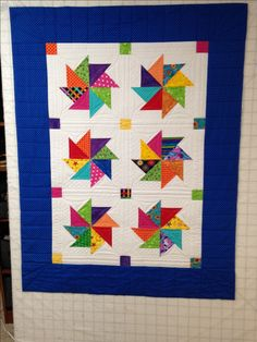 Quilting plan for kindred pinwheel stack and whack....accent cornerstones and lots of white space for quilting!