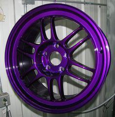 Dormant Purple Powder Coated Rims http://www.thepowdercoatstore.com/powder-coating-powder/dormant-purple-powder-coat