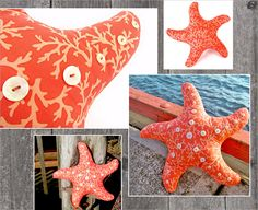 Starfish Pillow with Button Accents. Complete instructions and pillow pattern | Sew4Home