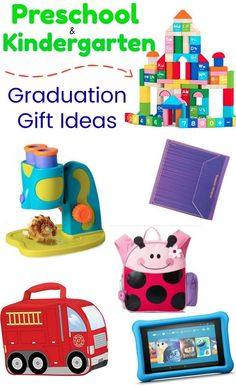 Preschool & Kindergarten Graduation is SO much fun and a special time full of smiles and pictures! Here are some AWESOME kid's graduation gift ideas that will keep them learning and busy for hours this summer! Kindergarten Graduation Gift, Graduation Day, Preschool Kindergarten, Grad Gifts, Classroom Design, Learning Toys, Craft Party, Pre School, Kids Toys