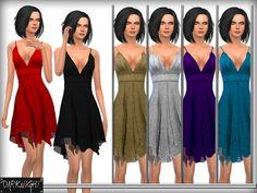 The Sims Resource: Cutout Jersey Mini Dress by DarkNighTt � Sims 4 Downloads