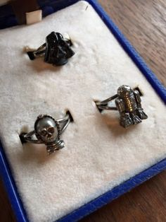 Vintage-1977-Star-Wars-3-Ring-Set-in-OrigInal-Box-Darth-Vader-C3PO-R2D2