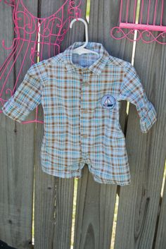 Classic  Plaid Button Down Romper by TeenyBambiniCouture on Etsy, $29.99