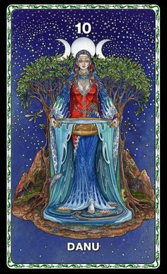 Danu from upcoming Oracle Deck by Maxine Miller