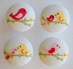 Penelope Bird Knobs by FrogsAndFairytales on Etsy, $5.00