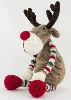 Rendier Ralf 2 Crochet Deer, Crochet Toys, Crochet Baby, Free Crochet, Knit Crochet, Handmade Christmas, Christmas Crafts, Christmas Decorations, Christmas Ornaments