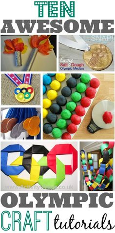10 Olympic Craft Tutorials for Kids --> great round up by @Colleen Padilla