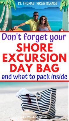 Packing guide for your cruise shore excursions and port days. From your beach bag essentials to everything you should bring on day trips, here's the info you need #cruisetips