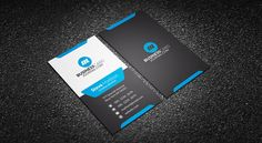 Modern Stylish Blue Corporate Business Card Template => More at designresources.io