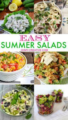 Easy Summer Salads  |  OHMY-CREATIVE.COM
