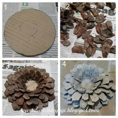 Coming up tutorial crown christmas candle Pine Cone Art, Pine Cone Crafts, Pine Cones, Diy Crafts For Adults, Diy Arts And Crafts, Crafts To Make, Wooden Christmas Decorations, Pine Cone Decorations, Christmas Candle