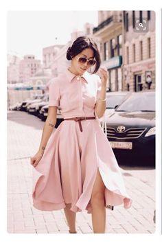 40 TL pudra gömlek elbise pamuk poplin kumaş ✔s m l beden kemer aksesuarlı
