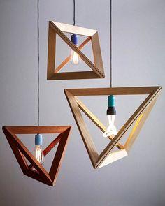 Modern-Geometric-Wooden-Pendant-Light-Design-for-Charming-Interior Forecasting the Hottest Trends in Home Decoration 2017 . Interior Lighting, Home Lighting, Club Lighting, Lighting Ideas, Unique Lighting, Cheap Lighting, String Lighting, Modern Lighting Design, Luxury Lighting
