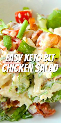 Ketogenic Recipes, Paleo Recipes, Low Carb Recipes, Cooking Recipes, Ensalada Thai, Canned Chicken Salad Recipe, Easy Low Carb Lunches, Comida Keto, Keto Dinner