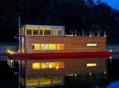 Thesayboat houseboat, designed and owned by Marek Ridky of Flowhouse in the Czech Republic.