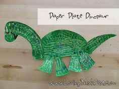 Paper Plate Dinosaur @ Loving My Nest
