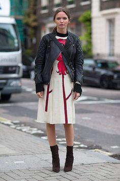 Poppy Delevingne Erdem London Street Style Fashion Week Spring 2014 - London Fashion Week Spring 2014 - Harper's BAZAAR