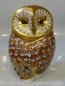 Royal Crown Derby Barn Owl Imari Paperweight | eBay