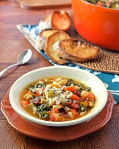 Minestrone Soup with Butternut Squash, Kale, and White Beans