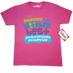 Inktastic My Mom Is The Worlds Best Anthropology Professor T-Shirt Mommy Child's Kids Baby Gift Professor's Daughter Like Cute Occupation Apparel Mens Adult Clothing Tees T-shirts Hws, Size: Medium, Grey