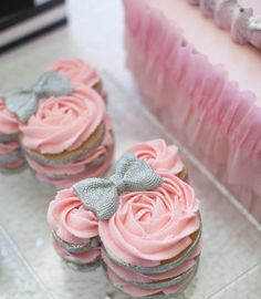 Minnie Mouse-inspired Stacked Cookies from a Glamorous Minnie Mouse Birthday Party via Kara's Party Ideas KarasPartyIdeas.com (23)