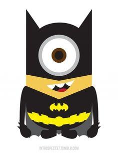 Minions as superheroes by Illustrator Kevin Magic Lam - BatMinion